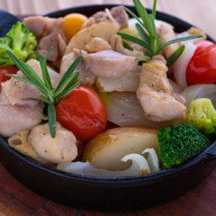 日南鶏と野菜のグリル